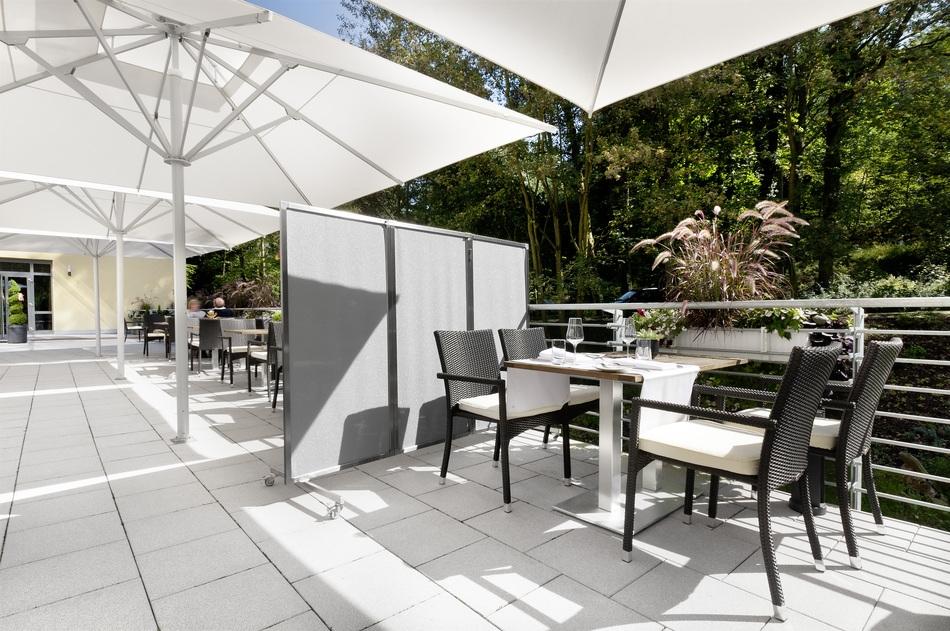 Terrasse paravent sichtschutz