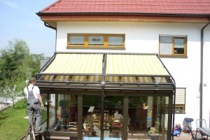 Reparatur Wintergarten-Markise
